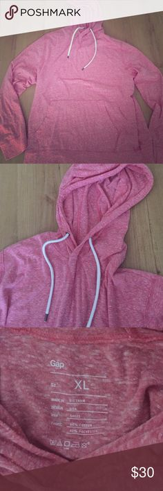NWOT. Gap lightweight hoodie Men's size XL. T-shirt material hoodie Soft light salmon colored material. Perfect condition! GAP Shirts Sweatshirts & Hoodies