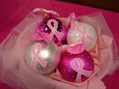 Christmas bulbs for breast cancer  | Breast Cancer Awareness | Happiest Mommy on the Block