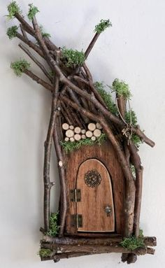 Fairy Door ~ Each One of a Kind ~ Handcrafted by Olive Fairy Accessories Fairy Door that Opens Se&; Fairy Door ~ Each One of a Kind ~ Handcrafted by Olive Fairy Accessories Fairy Door that Opens Se&; Diy Fairy Door, Fairy Garden Doors, Fairy Garden Furniture, Fairy Garden Houses, Fairies Garden, Fairy Doors For Trees, Diy Fairy House, Diy Fairy Garden, Fairy Tree Houses