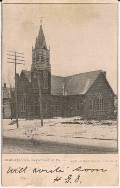 Baptist-Church-Reynoldsville-PA-Postcard