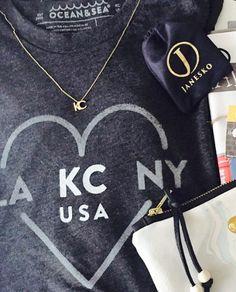 Janesko KC necklace.  #janesko #jewelry #kc #madeintheusa #sterling #modern #necklace