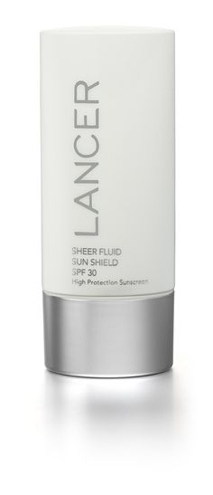 Dr. Lancer's Sheer Fluid Sun Shield SPF 30 is a weightless fluid sunscreen protects skin from UV light while delivering a complex of anti-aging ingredients that help protect skin cells and enhance cellular function. Ideal as a make-up primer, it leaves a smooth, even finish with no greasy or heavy after feel.