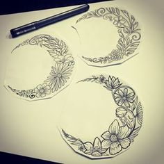 flower moon tattoo - Google Search
