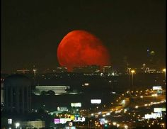 Brian Leuenser got this shot of the moon over Ft. Worth! 8-16-14. Simply stunning!