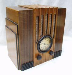 vintage radio: 19? AWA Empire • radio was 1st proven to work by Heinrich Rudolf Hertz, Germany 1888 but 1st commercial radio 1894 by Italian inventor Guglielmo Marconi • photo via VintageWirelessRadio