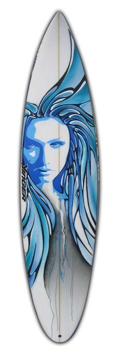 Surfboard as art.