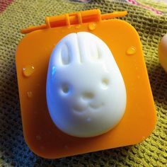 Fancy - Egg Mold by Kotobuki -- $10 gets you a set of 2 molds (bunny or bear faced) for your hard boiled eggs!