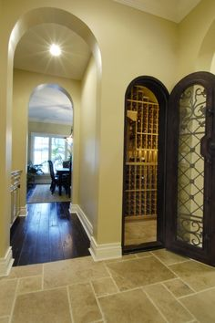 turn a small unused closet into a wine cellar install racks and change out the door beautiful. Black Bedroom Furniture Sets. Home Design Ideas