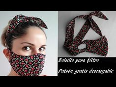 Sewing Patterns Free, Sewing Tutorials, Sewing Projects, Dress Tutorials, Mouth Mask Fashion, Fashion Face Mask, Easy Face Masks, Diy Face Mask, Diy Hair Scrunchies