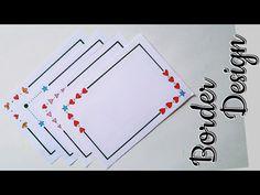 Frame Border Design, Page Borders Design, Front Page Design, Page Decoration, Simple Borders, Easy Doodle Art, Background Design Vector, Drawing Frames, Easy Paper Crafts