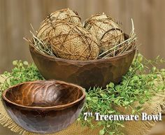 Treenware Carved Bowl-Assorted