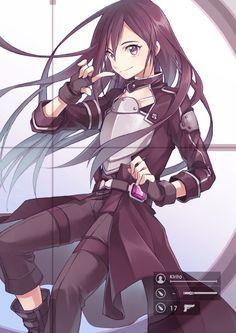 sword art online, kirito, and anime 이미지 Sao Ggo, Kirito Asuna, Online Anime, Online Art, Kirito Sword Art Online, Tous Les Anime, Mega Anime, Sao Anime, Accel World