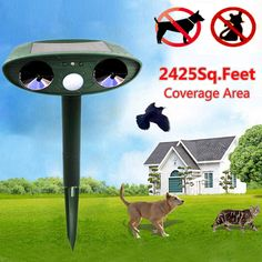 DailyDeal  Solar Power Ultrasonic Cat Dog Repeller Price: $12.19+Free Shipping  #Solar #SolarPower #outdoors #Garden #onlineshopping #discounts #NewYear #holidayshopping