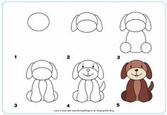 desenhos faceis de fazer - cachorro