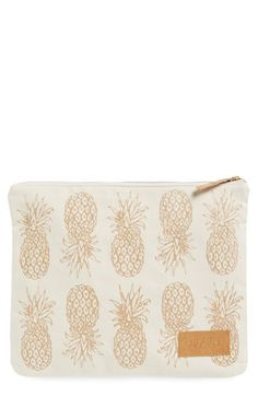 alola Pineapple Print Canvas Clutch available at #Nordstrom