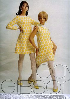 Gay Gibson Yellow and White Spots - 1967---Loved Anything Gay Gibson!!!