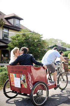 Bike Carriage Wedding Getaway - Love Me Do | Snippet & Ink