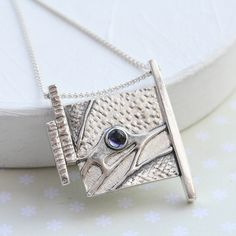 Lovely silver pendant by Green River Studio
