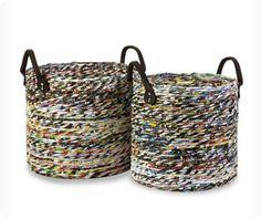 DIY:: recycled magazine basket