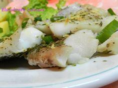 Cod Alaska la cuptor, poza 1 Alaska, How To Cook Fish, Cod, Potato Salad, Seafood, Potatoes, Cooking Recipes, Ethnic Recipes, Sea Food
