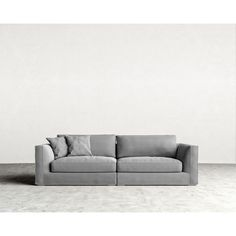 Sandro Milo Sofa - Concrete ($2,145) ❤ liked on Polyvore featuring home, furniture, sofas, concrete, modular furniture, cement furniture, eco friendly sofa, european furniture and concrete furniture