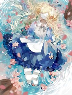 php Alice In Wonderland Fanart, Alicia Wonderland, Alice In Wonderland Pictures, Alice In Wonderland Drawings, Fan Art Anime, Anime Artwork, Anime Art Girl, Ange Anime, Anime Angel
