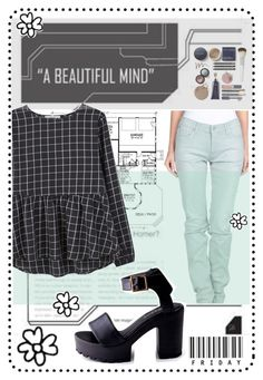"""""""A beautiful mind"""" by syoungju ❤ liked on Polyvore featuring GF Ferré and MANGO"""