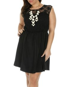 Lace Skater Dress #plus #size