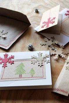 tarjetas cosidas