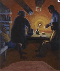 Gerard Sekoto - Family with Candle, 1942 Harlem Renaissance, Gerard Sekoto, South Africa Art, Social Realism, South African Artists, Art Deco, Magic Realism, Famous Words, Art Database