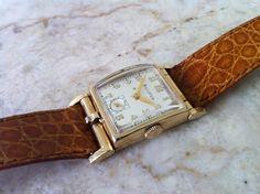 Vintage Men's Watch  Bulova Flip Top Photo Watch  by delovelyness