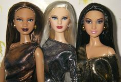 Barbie Basics, Barbie Friends, Collector Dolls, Classic Hollywood, Social Studies, Barbie Dolls, All Things, Sequin Skirt, Metallic