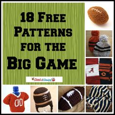 18 Free Patterns For the Big Game