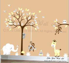 Wand-Aufkleber Kinder Wandtattoo Wand von Littlebirdwalldecals