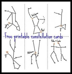 Constellation Cards Stargazing for Kids! Winter/Summer Sky Maps What's in the Sky this Month
