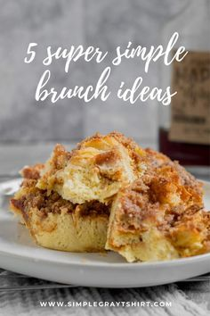 Out of ideas for quick and simple brunch?  Here are great ideas that can get brunch on the table quickly.  Using ingredients you likely already have in your pantry these recipes are sure to be family favorites. #weekdaymeal #mealprep Challah French Toast, French Toast Bake, Easy Brunch Recipes, Easy Desserts, Frozen Waffles, Make Ahead Brunch, Simple Baking, Simple Muffin Recipe, Recipe Share