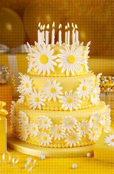 Daisy Fondant Cake | Daisy-Cake