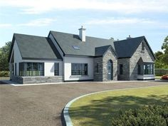 15 ideas bungalow house plans with porch layout Modern Bungalow House Design, Modern Bungalow Exterior, Bungalow House Plans, Cottage House Plans, Dream House Plans, Dormer Bungalow, Style At Home, Bungalows, House Designs Ireland