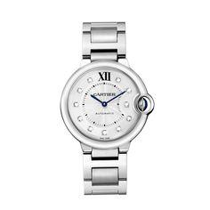 Montre Ballon Bleu de Cartier - 36 mm, acier, diamants - Horlogerie de luxe pour femme - Cartier