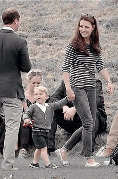 The Duchess and Prince Georgie at Beaufort Polo match 6/14/15