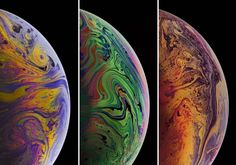 You Can Now Download Apple's Leaked iPhone Xs, Xs Max & XR 'Bubbles' Wallpaper - DesignTAXI.com