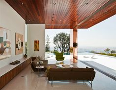 Hollywood Hills - by David Thompson and Kevin Southerland - Wood Roof