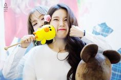 Moonbyul and SQUISHY Solar