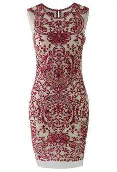 Devotion Embroidered Sleeveless Party Dress-I wish it was longer