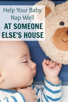 Does your baby fight naps when you try to put them down somewhere else? Here are some tips to help your baby nap well at other peoples houses. #ad