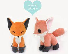 PDF sewing pattern  Giraffe stuffed animal  easy por TeacupLion