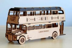 London Routemaster Double Decker Bus Laser Cut Digital DXF Pattern by CBakerWoodWorking on Etsy