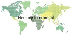 World map behang | kleurmijninterieur.nl