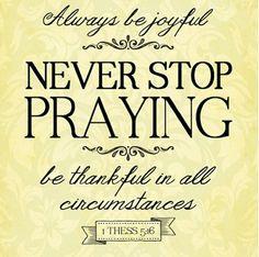 NSP (never stop praying)