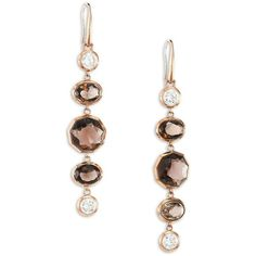 Michael Kors Urban Rush Smoky Topaz & Crystal Drop Earrings ($44) ❤ liked on Polyvore featuring jewelry, earrings, apparel & accessories, rose gold, crystal drop earrings, michael kors, smoky topaz earrings, rose gold tone jewelry and urban jewelry